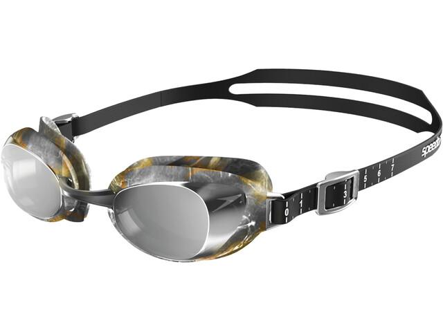 speedo Aquapure Mirror V2 Lunettes de protection, black/silver